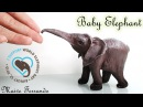 Polymer Clay Baby Elephant Sculpture Time Lapse for World Elephant Day Maive Ferrando