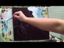 Алла Белопесоцкая урок живописи масломмастер-класс Дождь