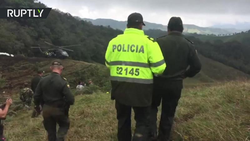 Авиакатастрофа в Колумбии_ видео с места трагедии