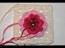 Adventkalender 24 * Granny Square Irische Rose im Schnee