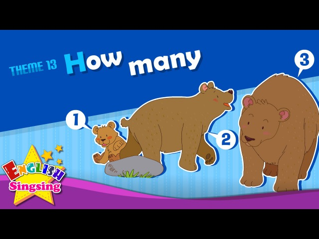 Theme 13. How many - How many apples? | ESL Song Story - Learning English for Kids