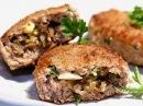 Зразы мясные с грибами видео рецепт Котлеты с начинкой из грибов Как готовить зразы из фарша
