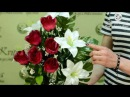 Искусственные букеты от Kvitu! № 303 Букет розы и лилии, 59 см.