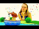 Игрушки видео для детей.Собачки из тайной жизни домашних животных играют на пляже