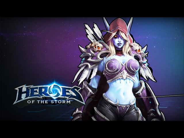 ♥ Heroes of the Storm (Gameplay) - Sylvanas Is Incredibly Good (HoTs Quick Match)