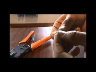 Как обжать сетевой кабель (RJ 45)