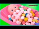 кукла пупсик купается в ванной мультик для девочек игры для детей на русском развивающее видео