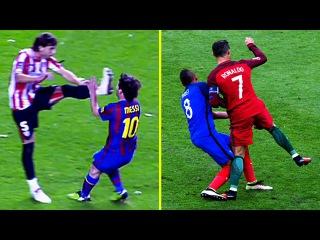 Cristiano Ronaldo Vs Lionel Messi ● Top 10 Brutal Fouls ● Horror Tackles