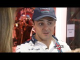 Felipe Massa's Williams motorhome cribs tour with Sky Sports F1 &amp Natalie Pinkham