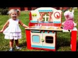 ✿ СУПЕР КУХНЯ Свинка Пеппа Повар Игры Для Детей Peppa Pig Super toy Kitchen Playset With Peppa Pig