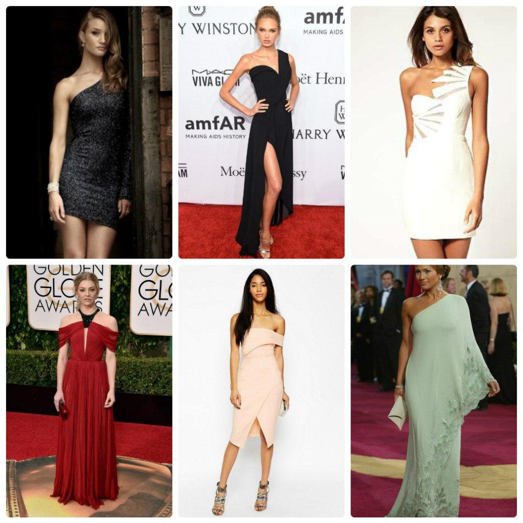 модели ассиметричных платьев