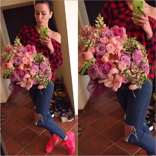 Селфи фото с цветами