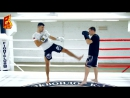 Тип, финт и удар локтем. Тайский бокс. Артем Левин