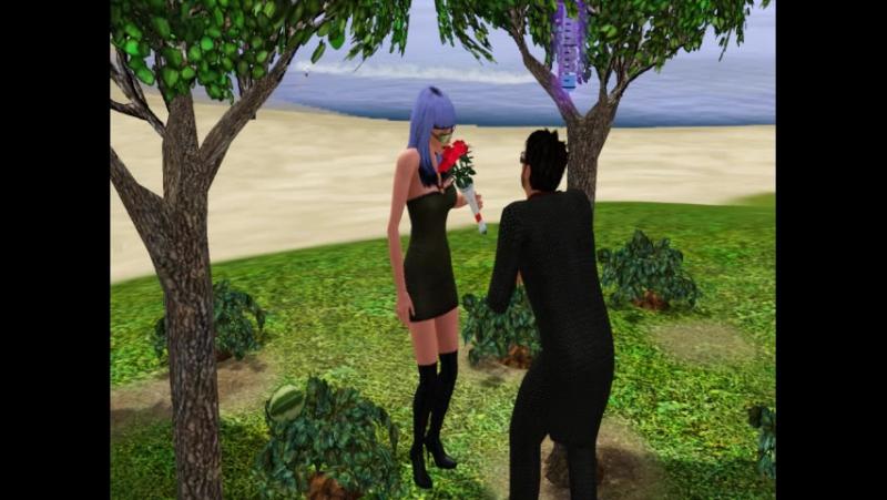 SIMS3 от Линды - Предложение руки и сердца на пляже...