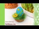 Пасхальное яйцо. Мастер-класс по сухому валянию   Needle felting Easter egg Tutorial