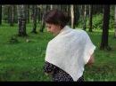Вязание спицами простая шаль бактус платочной вязкой