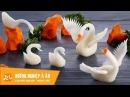 2 cách tỉa con thiên nga bằng củ cải đẹp, đơn giản | Học cắt tỉa rau củ quả