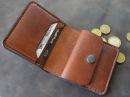 Работа с кожей. Портмоне с отделом для мелочи .Making leather wallet