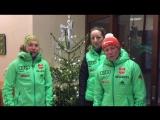 Лаура Дальмайер, Франциска Пройсс и Франциска Хильдебранд поздравляют с Рождеством (декабрь 2016)