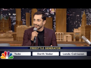 Riz Ahmed Freestyle Raps About Star Wars