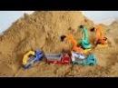 Excavator for kids Đồ chơi máy xúc cho bé - Máy múc xúc đất p2