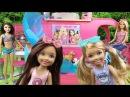 Мультфильм Челси, Кира играют в Авто-домике Обзор кукол Барби ♥ Chelsea play Pop Camper Barbie...