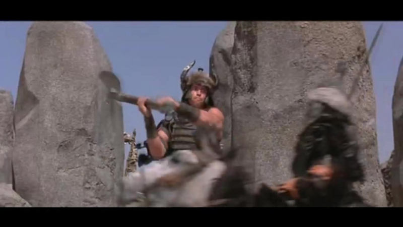 Best fight in Conan the Barbarian - Battle of the Mounds-Prayer to Crom