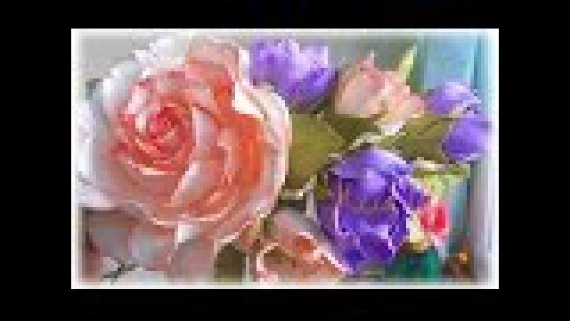 Цветы из фоамирана, мастер класс, простой способ создания украшения для волос.