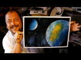 How to Spray Paint Art - Back to Basics Earth Pic