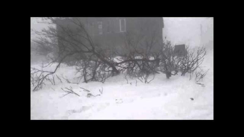 Северо-Курильск, снежная буря. 30 м/с.