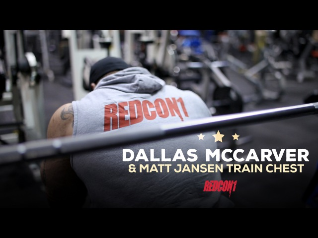 Dallas Mccarver Matt Jansen Train Chest 1 Week Out Of 2016 Mr. Olympia