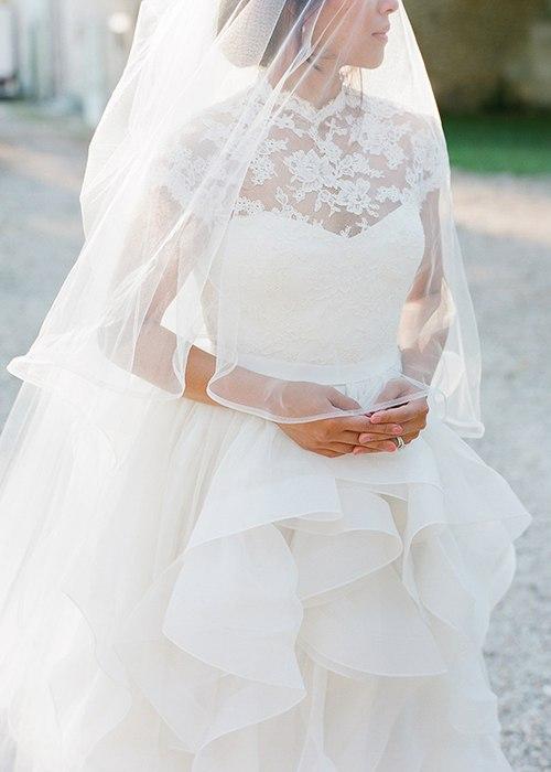 Свадебное платье с воротничком: тренд осени 2016 (5 фото)