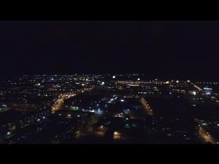 Новогодние салюты после боя курантов 1.01.2017 г. Абакан
