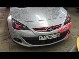Стайлинг фар AFL на Opel Astra J GTC