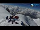 Вершина горы Эльбрус. Кадры снятые квадрокоптером.