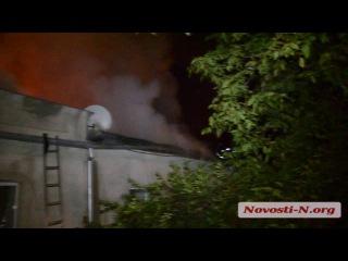 Возле «Шторма» вспыхнул пожар в жилом доме: спасатели боролись с огнем больше часа