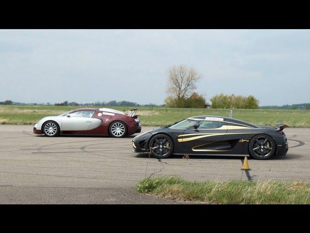 Bugatti Veyron 16.4 vs Koenigsegg Agera S Hundra x 5 races GTBOARD.com