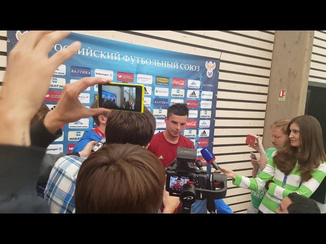 Интервью Артура Юсупова после тренировки сборной России в Круасси-сюр-Сен