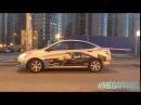 Светящиеся наклейки megapanel для компании Gett Taxi