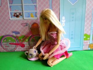 Барби нашла кошку. Маша в ярости. Мама Барби, Маша и Медведь