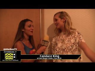 Интервью Кэндис для «AfterBuzz TV» в рамках Комик-Кона в Сан-Диего, 23 июля 2016