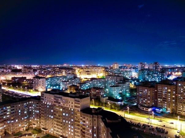 Немного ночного Минска . Сухарево.