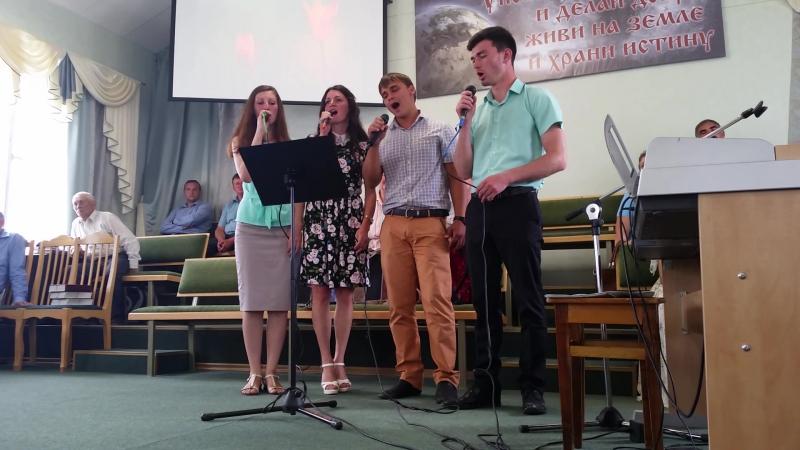 Участие молодежи в служении псебайской церкви. 24.07.2016