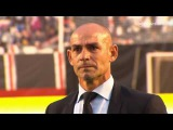 Paco Jémez Coach of Rayo Vallecano crying after relegation of his team