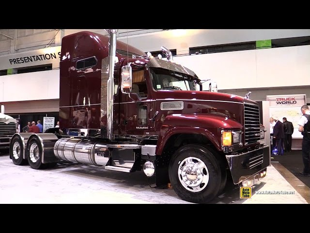 2016 Mack Pinnacle CHU613 70 Midrise Rowhide Sleeper Truck-Exterior Cabin Walkaround-2016 Truckworld
