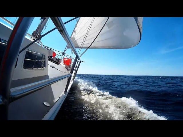 Путешествие под парусом! Жизнь на яхте!