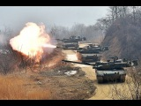 Korean K2 Black Panther Main Battle Tanks In Action - K2 Black Panthers Fire Their Powerful Weapons