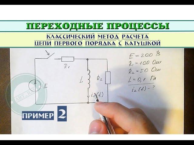 Пример 2   Классический метод расчета цепи первого порядка с катушкой