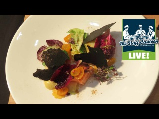Michelin star chef Alyn Williams cooks fjord trout, kumquat salad and squid ink crackers