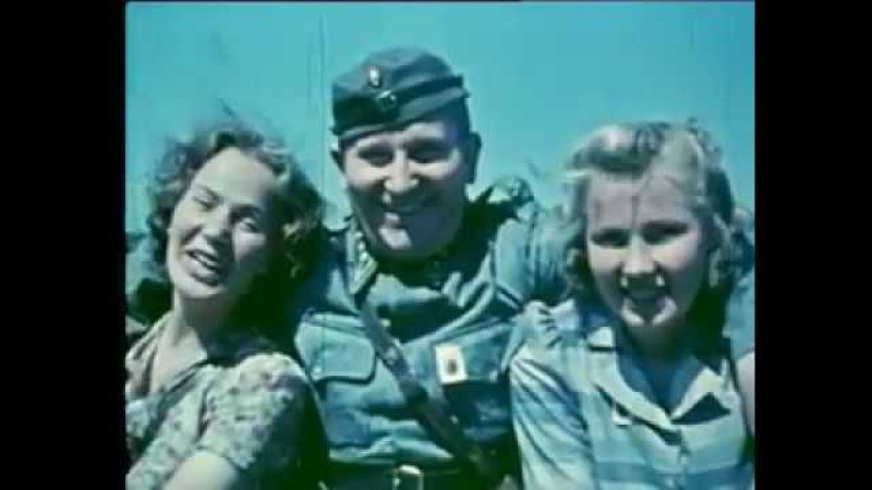 Карелия 1942 год в цветной кинохронике. На финском языке